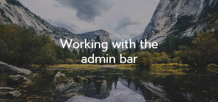 adminbar
