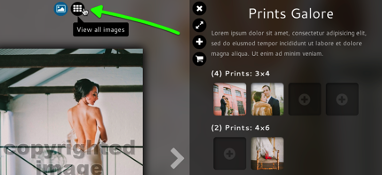 users can also click to see all images while adding to a package