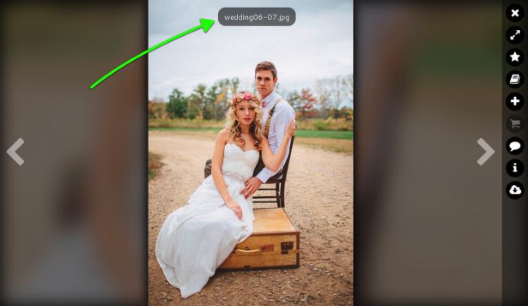 original filename display in single image view