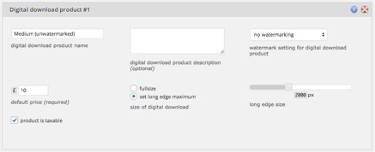 digital download product customization area