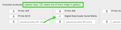 "set product quantity to -1 to mean ""one of every image in gallery"""