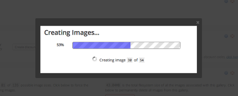 ProPhoto showing you the progress of the pre-downsizing of all of your images