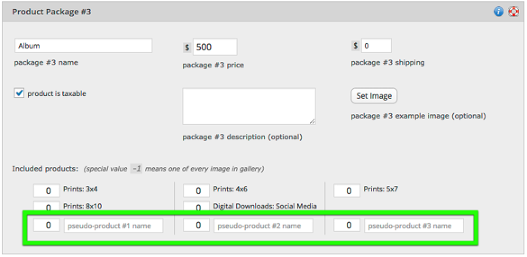 "you can now add ""psuedo-products"" as well as normally configured products to packages"