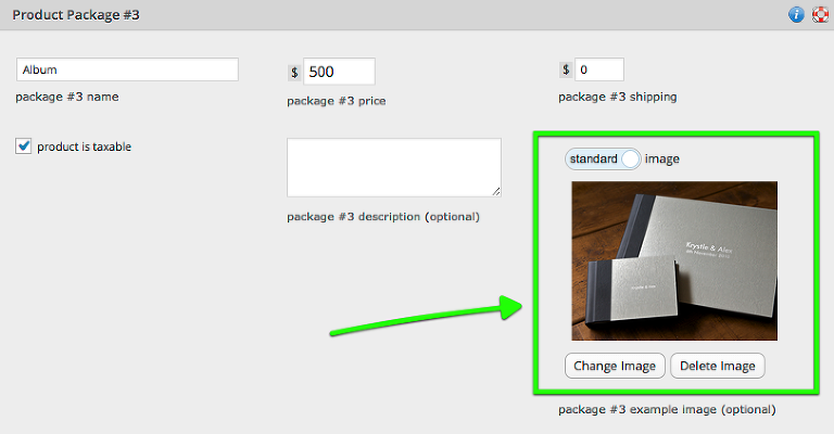 you can now upload example product images for products and packages