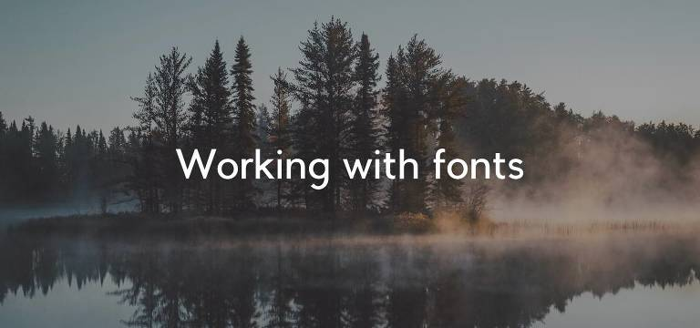 workingwithfonts